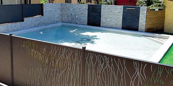 Barrière de piscine en aluminium à Toulouse