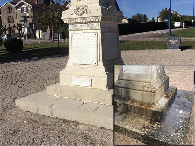 Nettoyage de monuments historiques