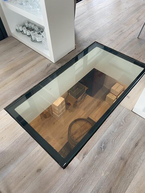 Trappe encastrée dans le sol en verre Menuiserie